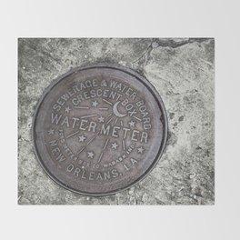 New Orleans Watermeter in Color Throw Blanket