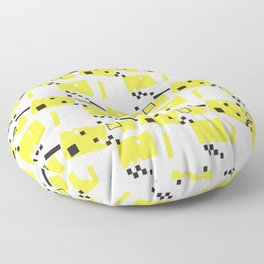 Abstract Yellow Taxi Cab Floor Pillow