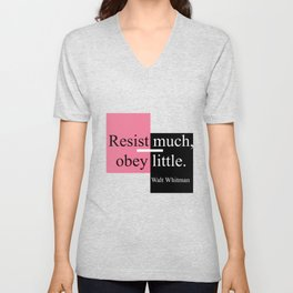 Resist much, obey little Unisex V-Neck