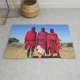 3 African Men from the Maasai Mara Rug
