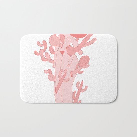 Pink Cactus Bath Mat