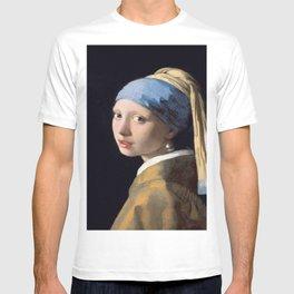Vermeer, Girl with a Pearl Earring,Meisje met de parel,La joven de la perla T-shirt