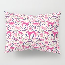 Park dogs in Pink Pillow Sham