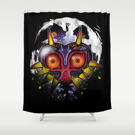 Power Behind the Mask Shower Curtain
