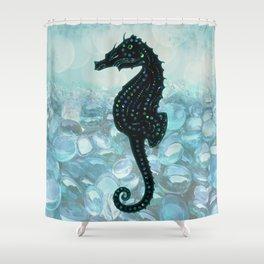 Jewel Seahorse Shower Curtain
