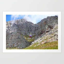 At Table Mountain, Cape Town South Africa Art Print