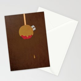 """Candy Apple Surprise"" Halloween Poster Stationery Cards"