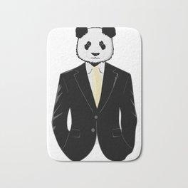 Panda in Suit Bath Mat
