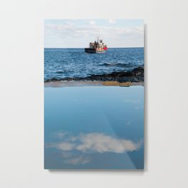 Whale watching boat Metal Print