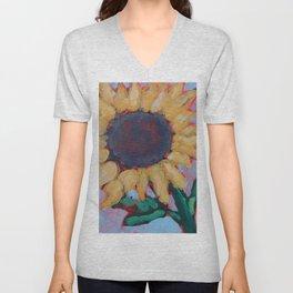 Blue Sunflower Unisex V-Neck