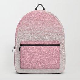 Trendy girly pink gradient elegant glitter Backpack