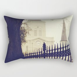 St Louis Cathedral through the trees Rectangular Pillow
