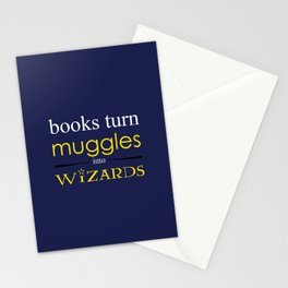 Books Turn Muggle into Wizards Stationery Cards