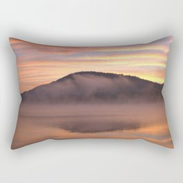 Fire in the Morning on Lake George Rectangular Pillow