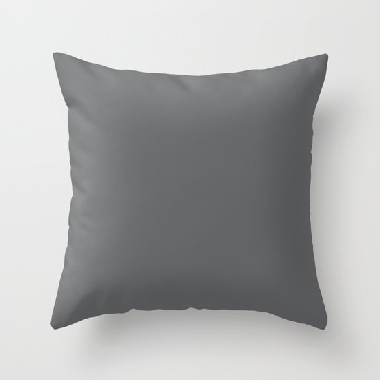 Simply Storm Gray Throw Pillow