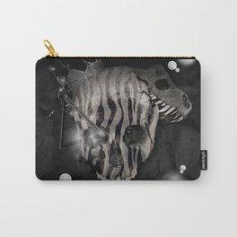 Zebra Skull Carry-All Pouch