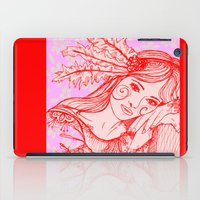 belle iPad Cases featuring Belle by thebutterflycollector