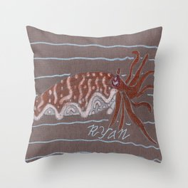 Broad Club Cuttlefish Throw Pillow
