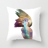 india Throw Pillows featuring India by Isabel Martinez Isabel
