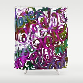LOVE  3 Shower Curtain