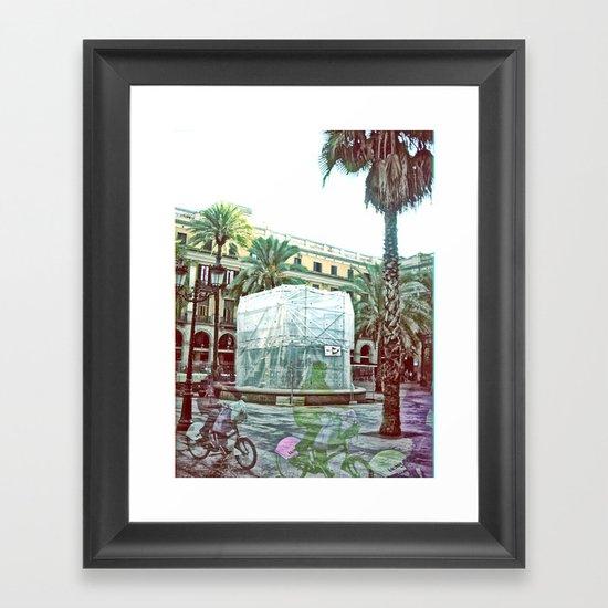 Friday 9 November 2012: veer ever illusively lit Framed Art Print