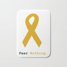 Fear Nothing: Gold Ribbon Awareness Bath Mat