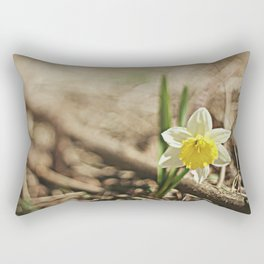 Yellow Daffodil Rectangular Pillow