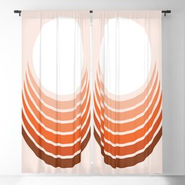 Red Rock Crescent Blackout Curtain