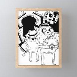 Detective time Framed Mini Art Print