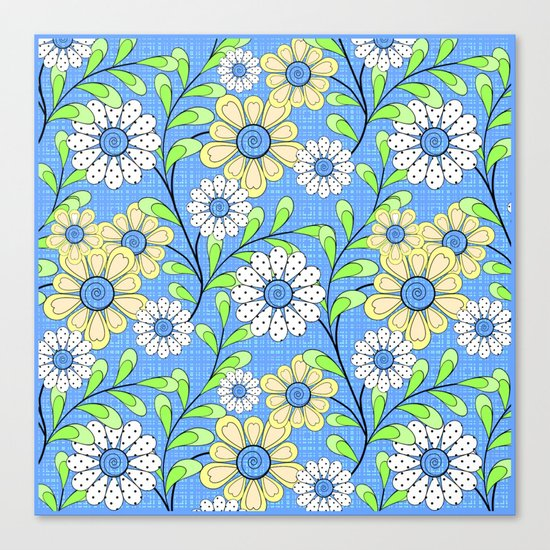 Bright floral pattern. Canvas Print
