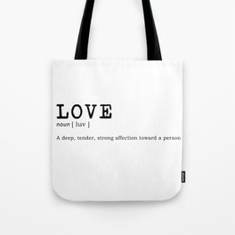 Definition of love Tote Bag