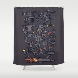 All Things in Balance Shower Curtain