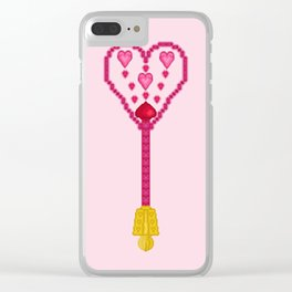 Gorgeous Heart-Dancing Scepter Clear iPhone Case