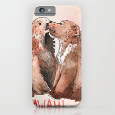 Bear cub kiss iPhone 6 Slim Case