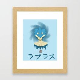Lapras Boy Framed Art Print