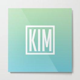 KIM Metal Print