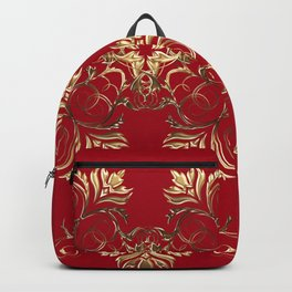 Baroque style golden texture/background Backpack
