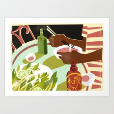 Siracha Art Print