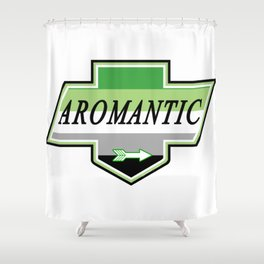 Identity Stamp: Aromantic Shower Curtain