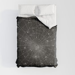 Constellation Star Map (B&W) Comforters