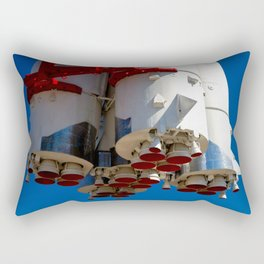 Cluster Of A Vintage Space Rocket Engines Against The Blue Sky Rectangular Pillow
