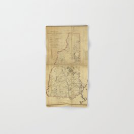 Topographical Map of the Province of New Hampshire (1784) Hand & Bath Towel