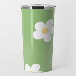 Retro 60's Flower Power Print Travel Mug
