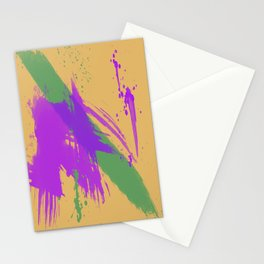 Intrepid, Abstract Brushstrokes Stationery Cards