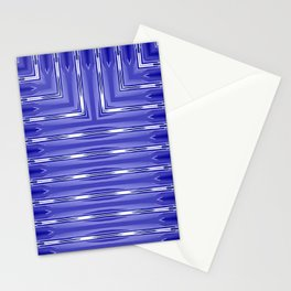 Art Deco Royal Blue Spear Pattern Stationery Cards