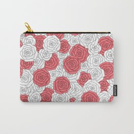 Painting White Roses Red Carry-All Pouch