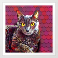Artsy Cat  Art Print