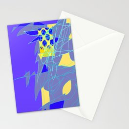 Yellow Square Hatchling  Blue-purple  Abstract Stationery Cards