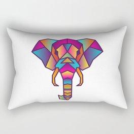Elephant   Geometric Colorful Low Poly Animal Set Rectangular Pillow