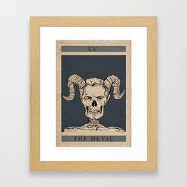 The Devil Gerahmter Kunstdruck